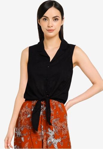 LC Waikiki black Fastening Detailed Waist Viscose Shirt 0704FAADA16AB0GS_1