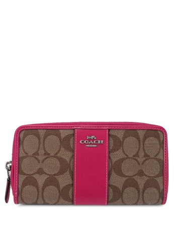 Coach brown Accordion Zip Wallet (cv) 0D4F4ACB5CE285GS_1