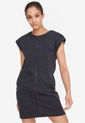 Noisy May black Alicia Sleeveless Shoulder Pad Dress 992E6AA80F6117GS_1