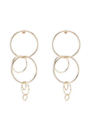 Red's Revenge gold Cascading Links Dangle Earrings B878DACF9BE41AGS_1