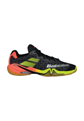 Babolat black and red and yellow Shadow Tour Badminton Shoes 7A2AASH76E3B09GS_1