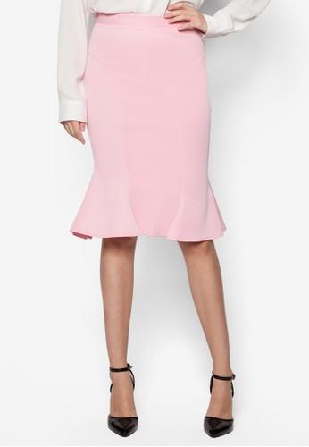 Roxanne 魚尾鉛筆esprit salon hk裙, 服飾, 清新俏皮