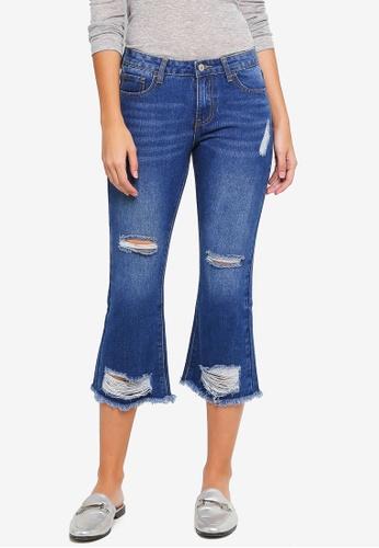 ZALORA blue Distressed Jeans 08167AAC2D7C40GS_1