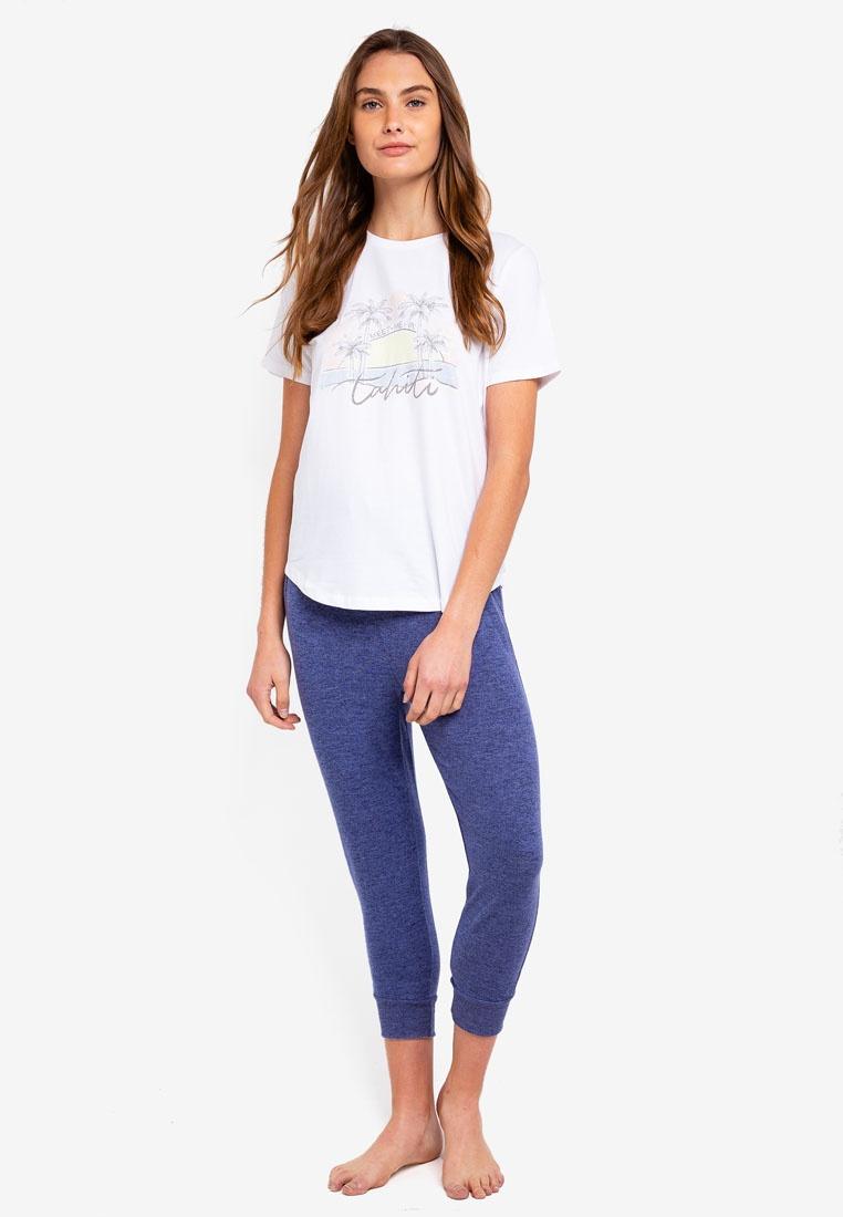Cotton Scoop Tahiti Jersey Shirt T On Body White qRa8wU
