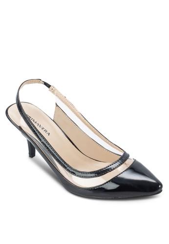 Mesprit門市地址adelyn 露跟踝帶中跟鞋, 女鞋, 鞋