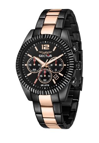 Sector black Sector 240 Black Metal Band Chronograph Men's Watches R3273640026 8E73AAC0B93E02GS_1