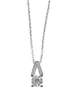 Vesper Silver Earrings and Necklace