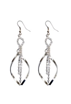 Clique Fashion Twisted Miley Silver Sexy Earrings