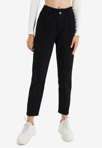 Trendyol black High Waist Mom Jeans 7281AAA847DE81GS_1