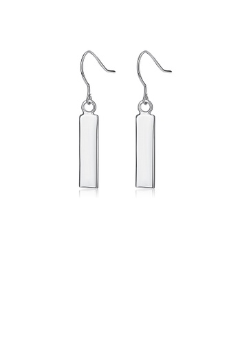 Glamorousky silver 925 Sterling Silver Simple Fashion Geometric Rectangle Earrings 176DBAC0CA8637GS_1