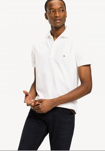 Tommy Hilfiger white CORE TOMMY SLIM POLO 14D9CAAB8A647CGS_1