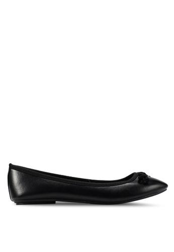 OVS 黑色 平底鞋 With Bow C5C97SH631B766GS_1