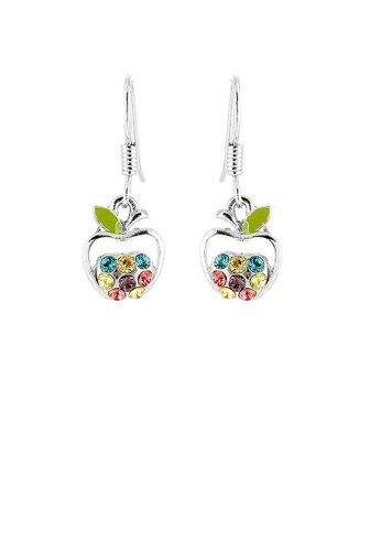 Glamorousky multi Apple Earrings with Multi Color Austrian Element Crystals 3E9E8ACCD55181GS_1