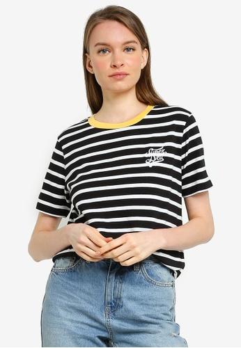 SUPERDRY black Dakota Stripe Graphic Tee 39C8BAADA6E46DGS_1