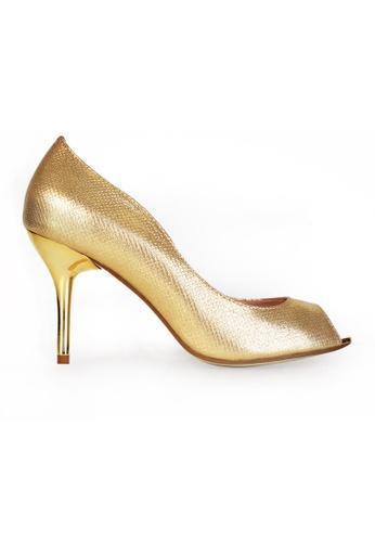 Gripz gold Gripz Peep Toe Metallic Gold Heels DDF47SH7684834GS_1