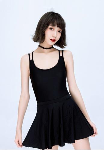 ZITIQUE black Women's Basic Must-have One-piece Swimsuit - Black 36EC3US2A70B21GS_1