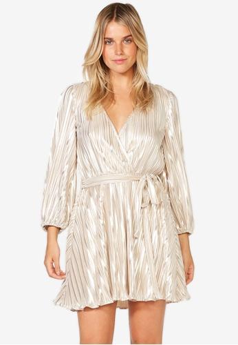 Bardot gold Bellissa Pleat Dress F41B7AABC1CBB0GS_1