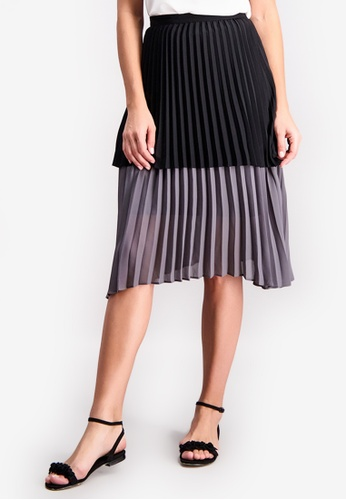 0243fc1e8f Shop BENCH Two Tone Accordion Skirt Online on ZALORA Philippines