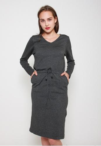 Leline Style grey Andrea Knit Dress 216D4AAD472903GS_1