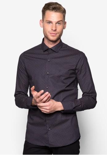 印花長esprit分店袖襯衫, 服飾, 襯衫
