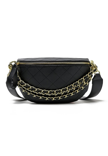 Seoul in Love black and gold Jiyeong Multi function Sandal Sling bag 9D064AC1CD85F4GS_1