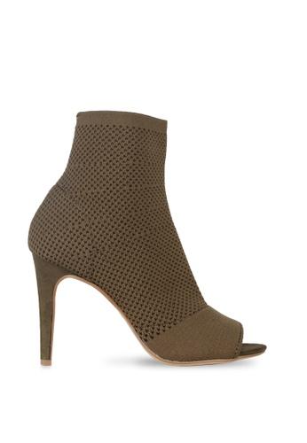 London Rag green Khaki Ankle Length Stiletto heel Boots 55CD7SH53D6804GS_1