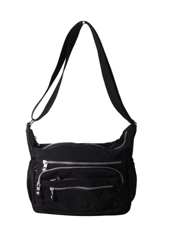 G.DAVIN black G.Davin Nylon Crossbody bag 05474AC2270485GS_1