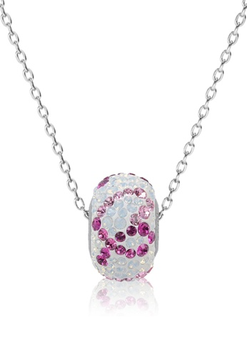 Her Jewellery white and pink and purple BeCharmed  Pave Pink Ribbon Pendant - Made with premium grade crystals from Austria 5E0EFACC907221GS_1