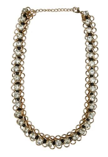 水鑽鏈飾項鍊, 飾品配件, 項zalora時尚購物網評價鍊
