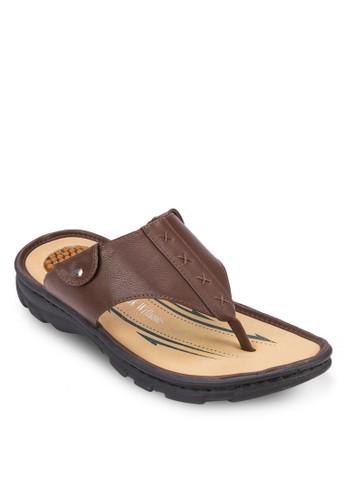 夾腳仿皮涼鞋,zalora 衣服評價 鞋, 鞋