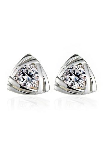 Vivere Rosse silver Tri Stud Earrings VI014AC38FAJMY_1