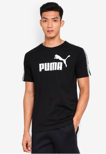PUMA black Sportstyle Core Tape Logo Tee 674EFAAA14DDF6GS_1