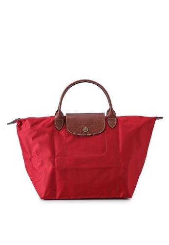 LONGCHAMP red Le Pliage Original Top Handle Bag M (nt) 0519DAC8BB0F57GS_1