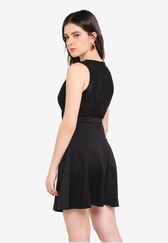 ZALORA black Lace Back Dress 40192AA792E4FCGS_1