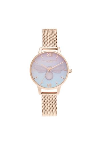 Olivia Burton purple Olivia Burton Candy Shop Purple To Blue Gradient & 3D Pink Plastic Bee Women's Watch (OB16CD09) EDEFBAC98105F3GS_1
