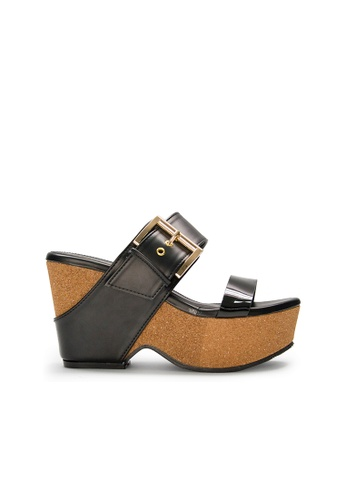 SEMBONIA black SEMBONIA Synthetic Leather Wedges (Black) 6747ASH835BC8AGS_1