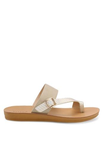 Noveni orange Strappy Sandals 23DC2SH42F93A5GS_1