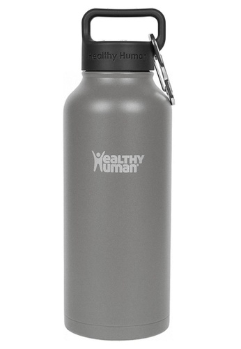 Healthy Human grey 32oz Vacuum Insulated Stainless Steel Bottle B109FAC801EAA9GS_1