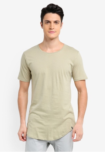 Factorie green The Curved Tall Tee A28E5AA862B844GS_1