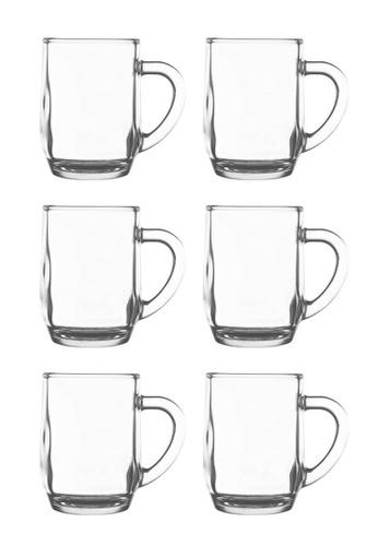 Union Glass n/a Thailand Premium Clear Glass Cup Coffee, Tea, Hot Chocolate, Milk 300ml - 10oz Set Of 6 B89A2HLC5138E4GS_1