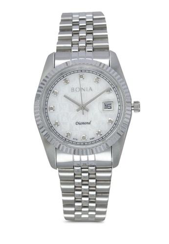 BONIA silver Bonia BNB10087-3357S Silver Stainless Steel Watch BO777AC0SE00MY_1
