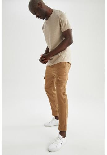 DeFacto brown Slim Trousers 70D3EAA7C38E20GS_1