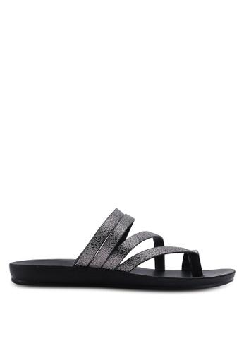 NOVENI 黑色 Multi-Strap Sandals FC646SH39B5D6CGS_1