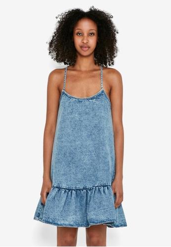 Noisy May blue Scarlett Sleeveless Frill Strap Dress 64E0AAA2AE273CGS_1