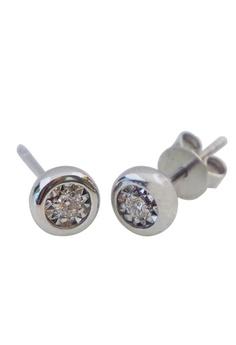 51ca93a8b LITZ white LITZ 750 (18K) White Gold Diamond Earrings AC218AC4EC8539GS_1
