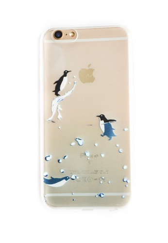Fancy Cellphone Cases multi Penguins Soft Transparent Case for iPhone 6/6s FA644AC01JQCPH_1