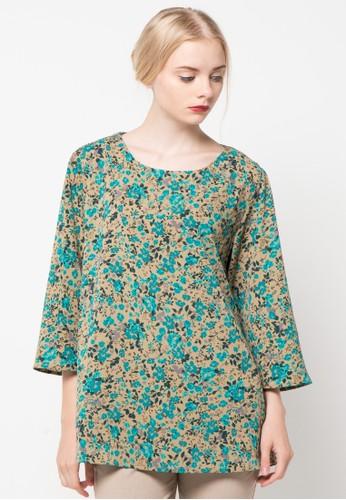 SIMPLICITY green Long Sleeve Blouse SI536AA81LKCID_1