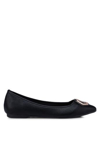 Bata 黑色 尖頭平底鞋 DFCFESH43DCC50GS_1