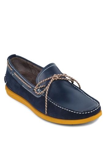 拼色繫帶樂福鞋,esprit台灣網頁 鞋, 船型鞋