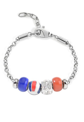 Morellato silver Drops Bracelet SCZ480 Stainless Steel Crystals Enamel 2092CAC759CF9FGS_1